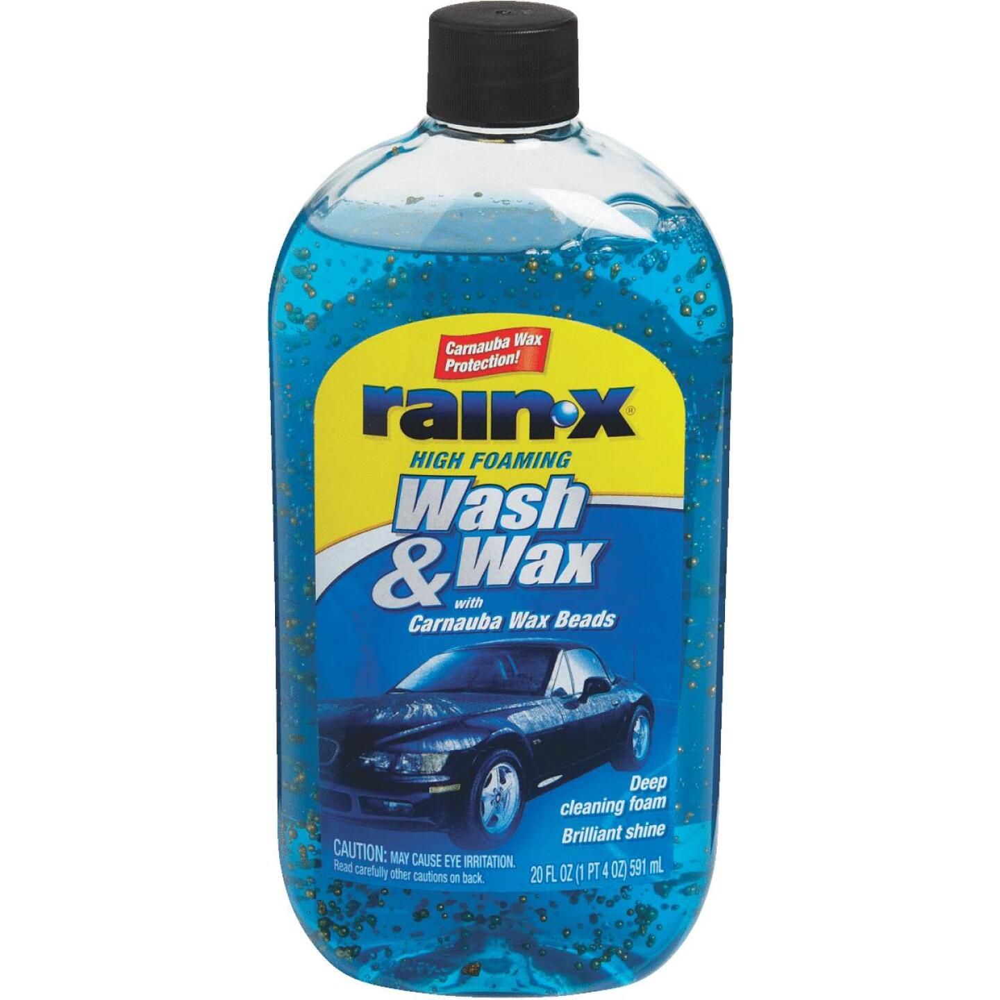 RAIN-X 20 Oz. Liquid High Foaming Car Wash & Wax w/Carnauba Wax Image 1