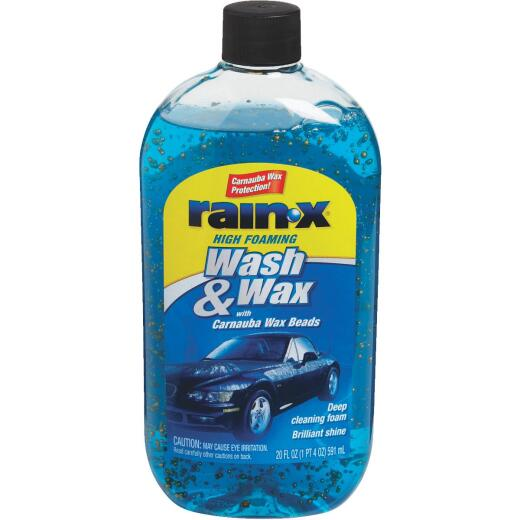 RAIN-X 20 Oz. Liquid High Foaming Car Wash & Wax w/Carnauba Wax