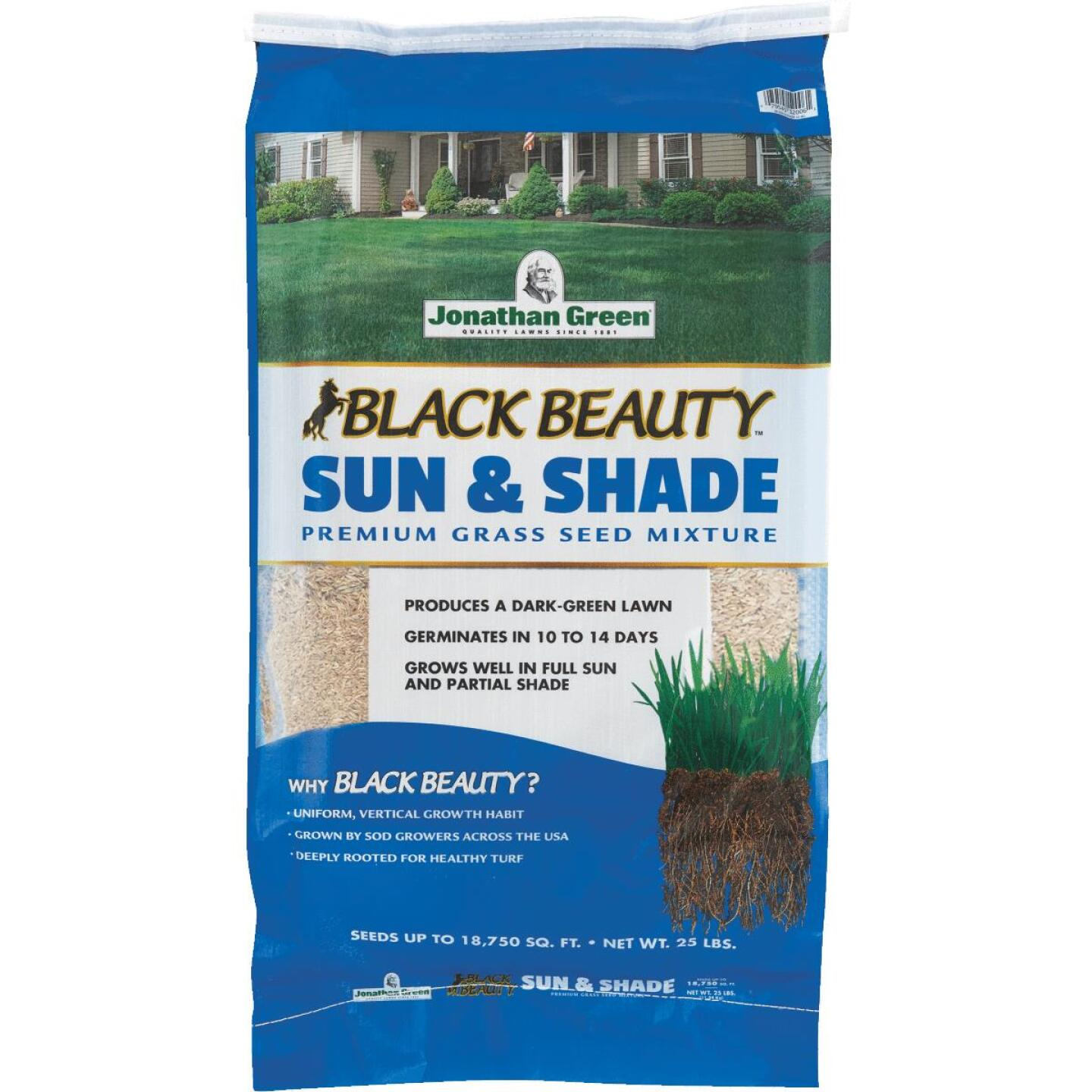 Jonathan Green Black Beauty 25 Lb. 9375 Sq. Ft. Coverage Sun & Shade Grass Seed Image 1
