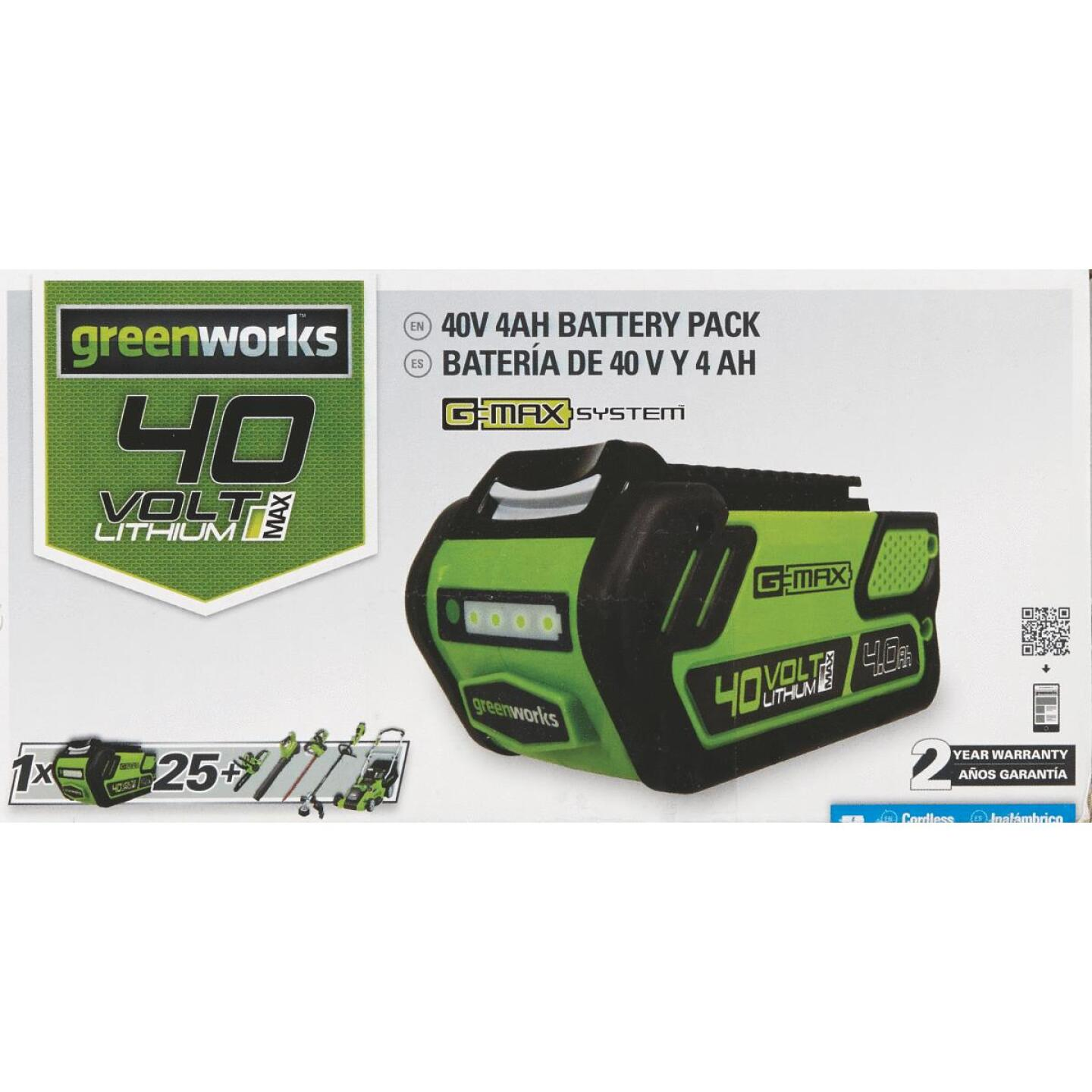 Greenworks 40V 4AH Tool Replacement Battery Image 2