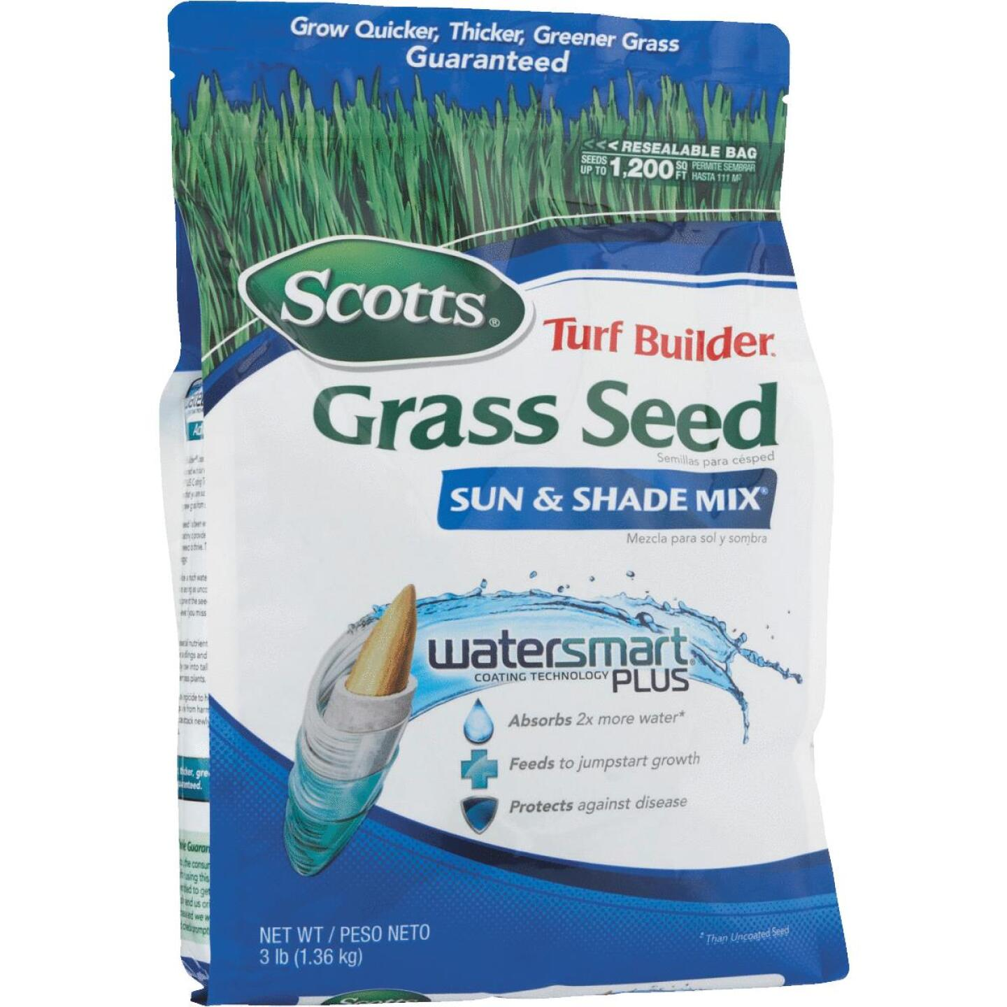 Scotts Turf Builder 3 Lb. Up To 1200 Sq. Ft. Coverage Sun & Shade Grass Seed Image 6
