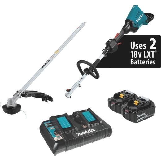 Makita 18V X2 (36V) LXT Lithium-Ion (5.0Ah) Brushless Cordless Couple Shaft Power Head Kit with String Trimmer Attachment