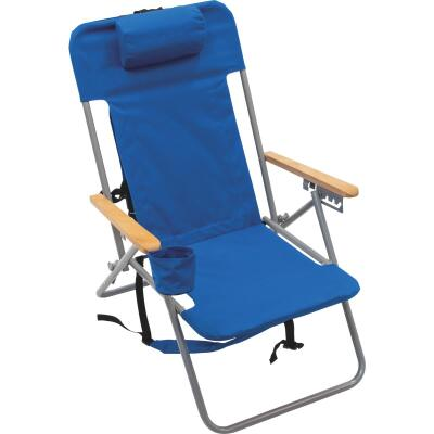 Rio Brands Blue Canvas Backpack Folding Chair